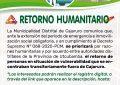 RETORNO HUMANITARIO