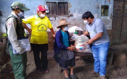 MUNICIPALIDAD DE CAJARURO REALIZÓ LA DISTRIBUCIÓN DE LA CANASTA BÁSICA FAMILIAR A HOGARES VULNERABLES DEL C.P. SAN JUAN DE LA LIBERTAD