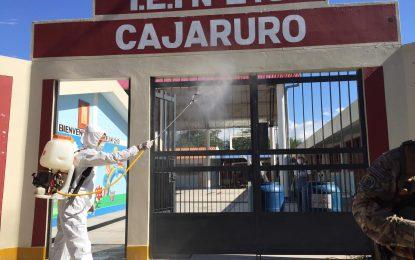 📌MUNICIPALIDAD DE CAJARURO DESINFECTA II.EE QUE SIRVEN COMO INSTALACIONES DE APOYO A LAS NECESIDADES HUMANITARIAS GENERADAS POR LA PROPAGACIÓN DEL CORONAVIRUS
